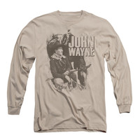 John Wayne Men's  In The West Long Sleeve Brown Rockabilia