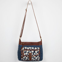 Daisy Print Crossbody Bag Blue Combo One Size For Women 24231524901