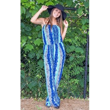 In The Night Snake Print Jumpsuit