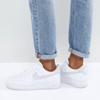 Nike Air Force 1 '07 Trainers In White And Grey at asos.com