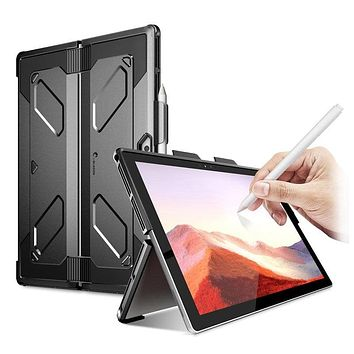 I-BLASON For Microsoft Surface Pro 7 (2019) / Pro 6 (2018) /Pro 5 / Pro 4 Armorbox Heavy Duty Dual Layer Case With Pencil Holder