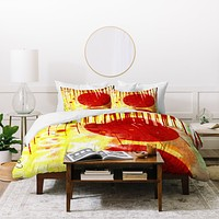 Sophia Buddenhagen Red Circle Duvet Cover