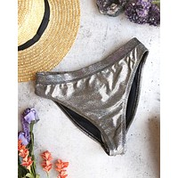 Olivia Metallic Banded High Waist High Cut Cheeky Bottoms in More Colors