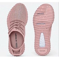 """Adidas"" Women Pink Yeezy Boost Sneakers Running Sports Shoes For  Women Men"