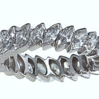 5.04ct Marquise Diamond Eternity Ring 18kt White Gold   JEWELFORME BLUE