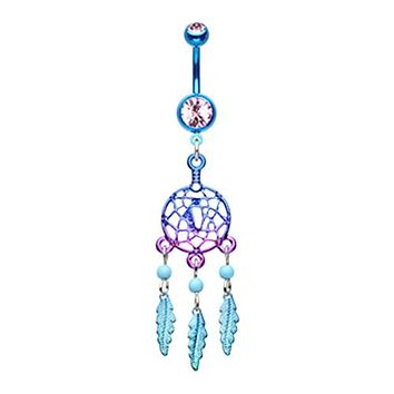 Candy Coated Dreamcatcher Belly Button Ring