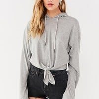 Out From Under Knot-Front Hoodie Sweatshirt | Urban Outfitters