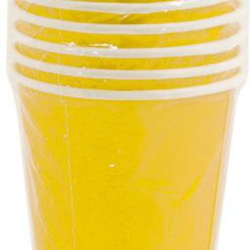 yellow paper cups Case of 36