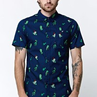 Modern Amusement Cactus Short Sleeve Woven Shirt - Mens Shirt - Blue