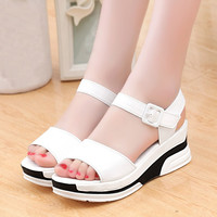 Ulrica New Arrival Leisure Women's Summer Sandals Shoes Peep-toe Low Shoes Roman Sandals Ladies Flip Flops zapatos mujer