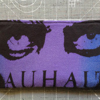 BAUHAUS - Upcycled Concert/ Band T-shirt Makeup/ Pencil Pouch - ooak