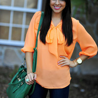 Highlight Of My Life Blouse: Neon Orange | Hope's