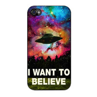 i want to believe x file movie nebula space iPhone 4 4s 5 5s 5c 6 6s plus cases