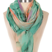 Water Lover Scarf- Green