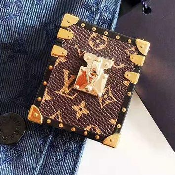 LV Louis Vuitton Newest Stylish iPhone Airpods Headphone Case Wireless Bluetooth Headphone Protector Case(No Headphones) 3#