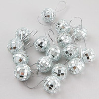 """Mini 7/8"""" Mirrored """"Disco Ball"""" Ornaments - Total of 32 (2 Packages of 16)"""