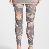 Women's Nordstrom Sublimated Floral Print Footless Tights,