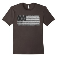 """Official """"LoneStar Designs"""" Grayscale American Flag T-Shirt"""