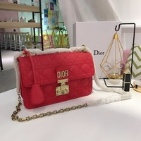 Dior  Women Leather Shoulder Bag Shopping Satchel LV Tote Bag Handbag