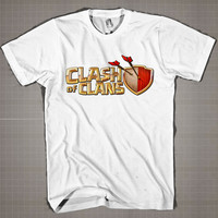 Clash Of Clans  Mens and Women T-Shirt Available Color Black And White