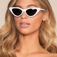 Lizbeth Cat-Eye Sunglasses - White