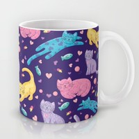 Playful Kittens Pattern Mug by Noonday Design | Society6