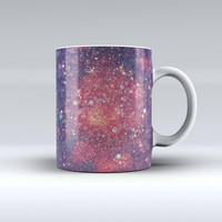 The Red and Blue Unfocused Shimmer Lights ink-Fuzed Ceramic Coffee Mug