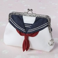 Lovely navy sailor collar hand bag