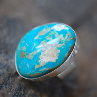 American Turquoise Ring by dollybirddesign on Etsy