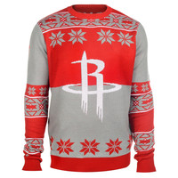 Houston Rockets Forever Collectibles Big Logo Ugly Sweater Sizes S-XXL w/ Priority Shipping