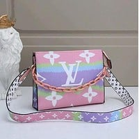 Louis Vuitton LV Popular Women Leather Satchel Crossbody Handbag Shoulder Bag