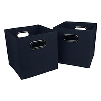 Evelots Fabric Storage Bin/Cube/Container-Sturdy-Foldable-Metal Handles