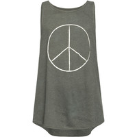 Billabong Peace Sign Girls Tank Grey  In Sizes