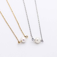 Mini Pearl necklace (2 colors)