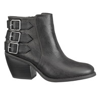 Black Sally 3 Buckle Bootie - Black