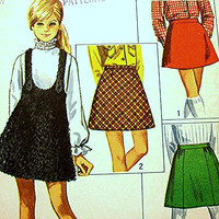 1960s Girls Skirts and Jumper Pattern Simplicity size 8 UNCUT