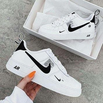 Nike Air Force 1 AF1 Triple White Classic Men's and Women's Sneakers Shoes