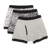 Animal Pattern 3 Pack Underwear - Men's Underwear  - Clothing