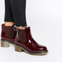 New Look Patent Gum Sole Heeled Boot