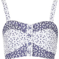 Contrast Floral Button Bralet - New In This Week  - New In