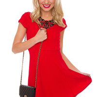 Crushin On You Dress - Red