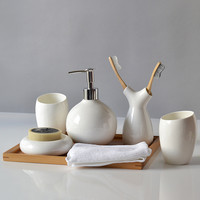 Bone Style Ceramic Bathroom set