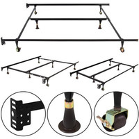 Adjustable Metal Bed Frame Queen Full Twin Size W/ Center Support