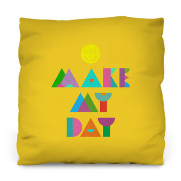 Make My Day Outdoor Throw Pillow