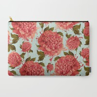A Splash of Peony, A Dash of Color Carry-All Pouch by Kristy Patterson Design   Society6