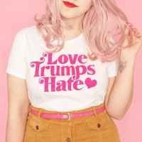 Love trumps hate women's t-shirt