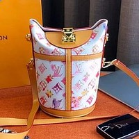 LV 2020 new simple wild fries bag handbag shoulder messenger bag