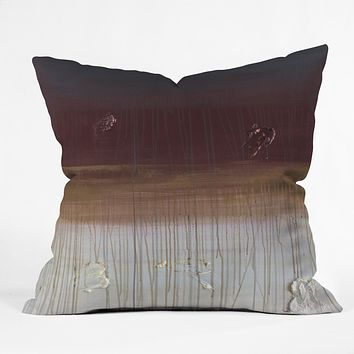 Kent Youngstrom non fat mocha wit a caramel drizzle Outdoor Throw Pillow