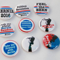 Bernie Sanders for President - pinback buttons - 2.25 inch pins