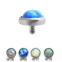 1pc Opal Nose Ring Surgical Stainless Steel Opal Stone Nose Studs Bone Piercing Ring Colorful Body Jewelry